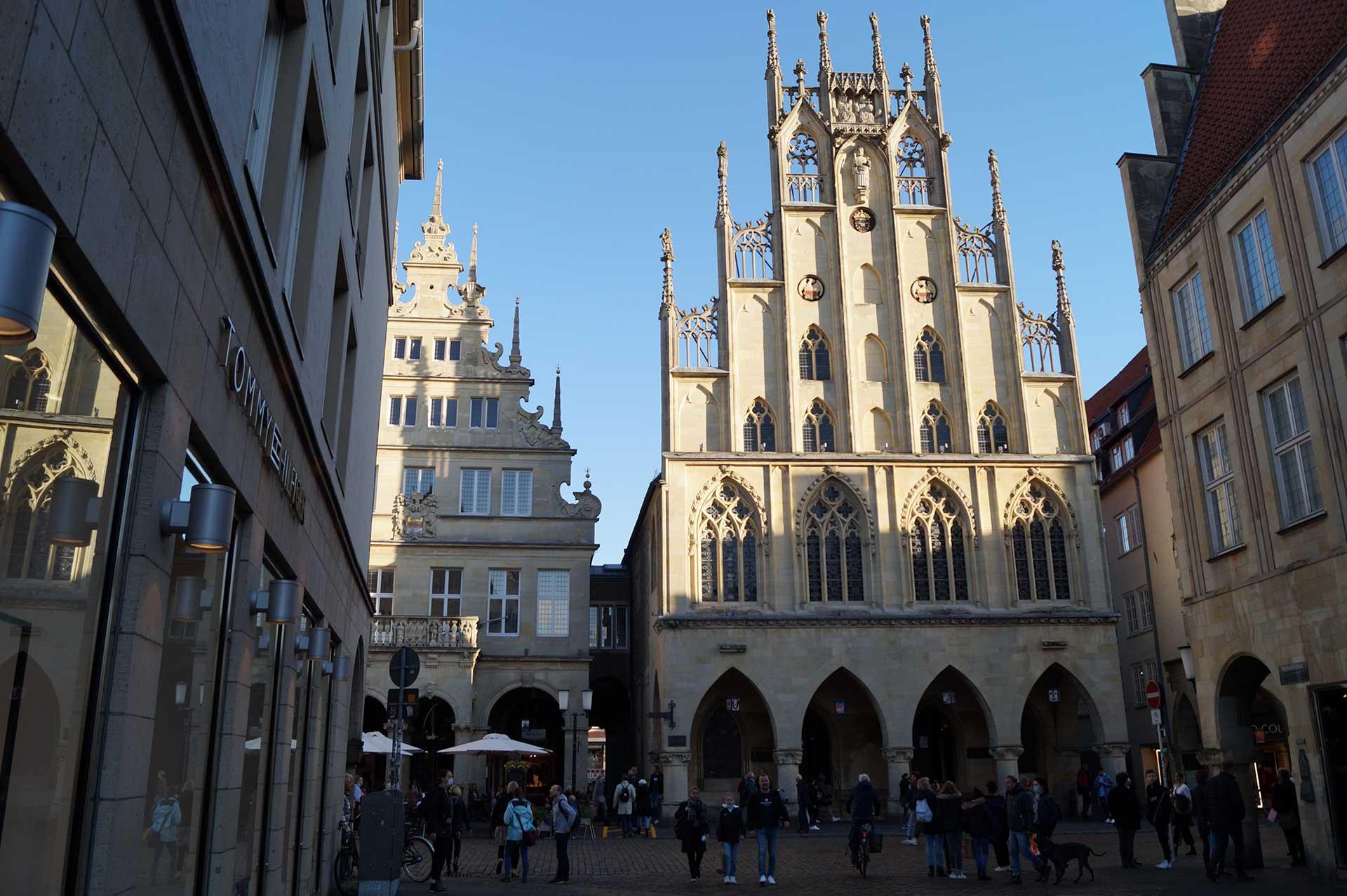 The Münster City Hall at Prinzipalmarkt
